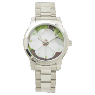 White Dogwood Flower Women's Watch