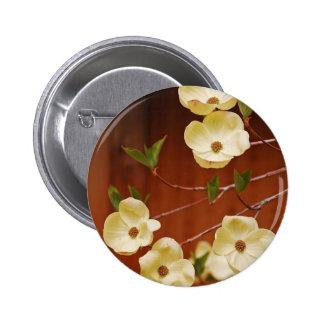 White dogwood flowers pins