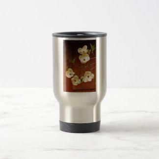White dogwood flowers coffee mug