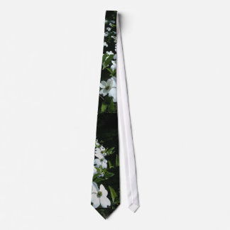 White Dogwood Flowers Tie