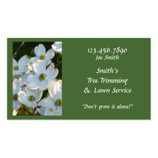 White Dogwood (Raw) Pack Of Standard Business Cards
