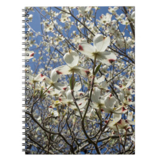 White Dogwood Tree Flowers Notebook