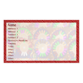 White Dot Spectrum on Red : Border Grace Template Pack Of Standard Business Cards