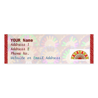 White Dot Spectrum on Red : Border Grace Template Pack Of Skinny Business Cards
