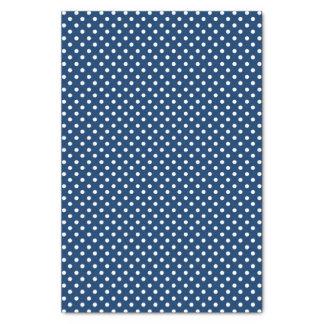White dots on blue tissue paper