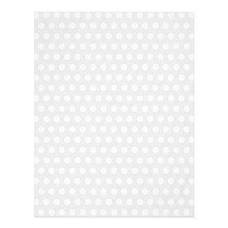 White Dots on Pale Gray 21.5 Cm X 28 Cm Flyer