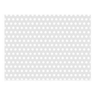 White Dots on Pale Gray Postcards