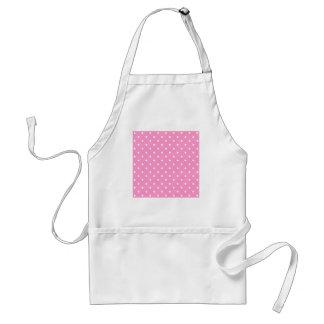 White Dots, Pink Polka Dots Pattern. Apron