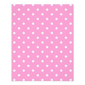 White Dots Pink Polka Dots Pattern Custom Flyer