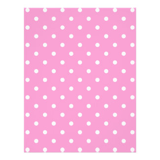 White Dots, Pink Polka Dots Pattern. Flyers