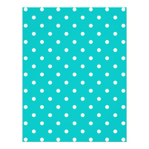 White dots, Teal Polka Dot Pattern. Custom Flyer