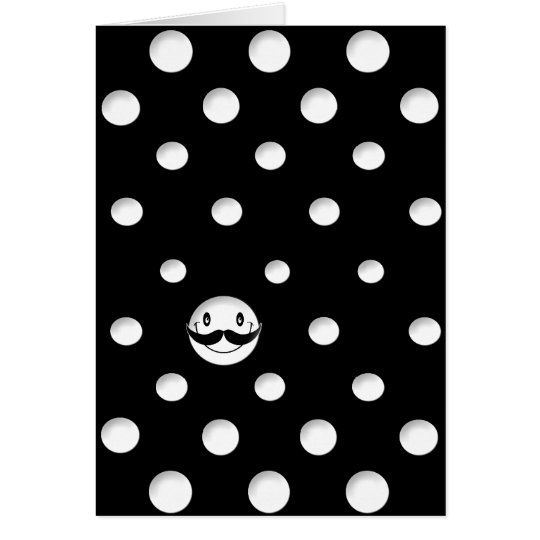 White dots with a Cute white Smile Card