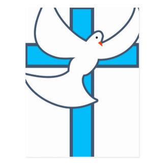 White Dove And Cross Postcard