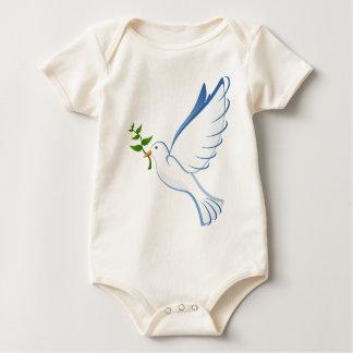 White dove baby bodysuit