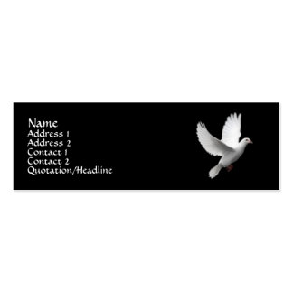 White Dove Business Card Template