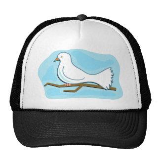 White Dove Mesh Hats