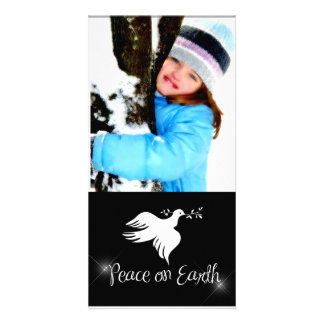 White Dove Holiday Photo Card