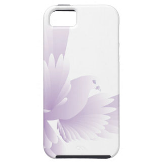 white dove in blue sky 3 iPhone 5 cover