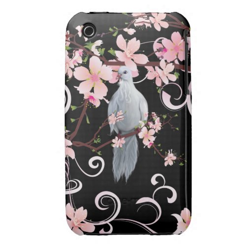White Dove in Dogwood Blossoms iPhone 3 Covers