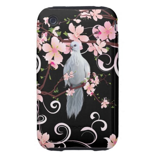 White Dove in Dogwood Blossoms Tough iPhone 3 Covers