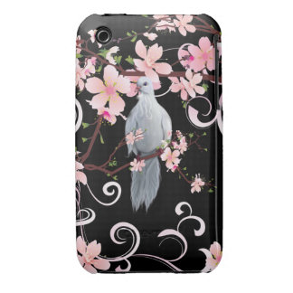 White Dove in Dogwood Blossoms iPhone 3 Case
