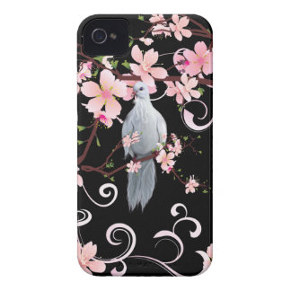 White Dove in Dogwood Blossoms iPhone 4 Cases