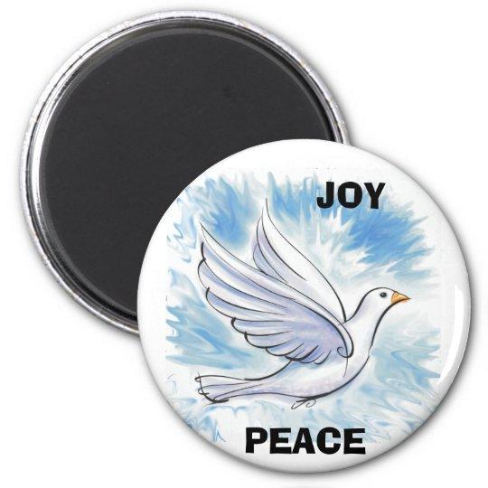 White Dove, PEACE, JOY Magnet