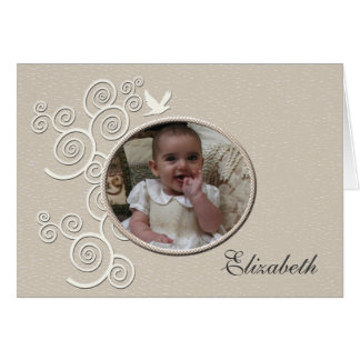 White Dove Religious Photo Notecard Note Card