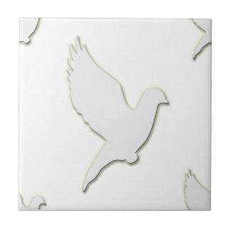 White Dove Small Square Tile