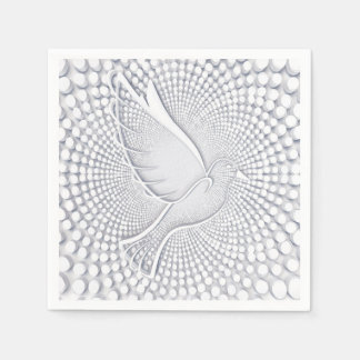 White Dove Standard Cocktail Paper Napkins Disposable Serviette
