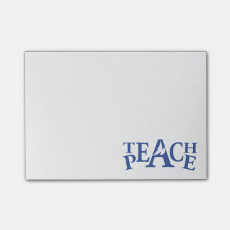 White dove teach peace graphic post it notes