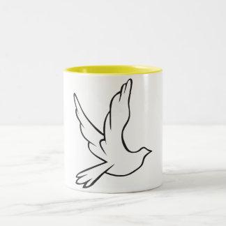 White Dove Two-Tone Mug