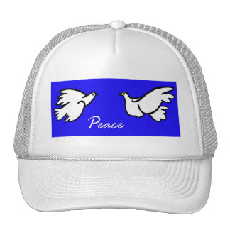 White Doves of Peace Mesh Hats