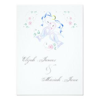 "White Doves & Ring Wedding Invitation Cards 5.5"" X 7.5"" Invitation Card"