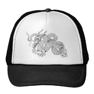 White dragon trucker hats