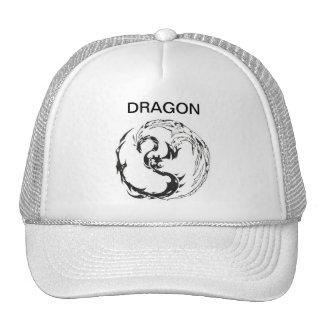 white dragon mesh hats