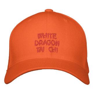 WHITE DRAGON TAI CHI EMBROIDERED HAT