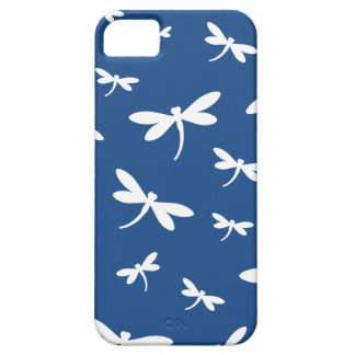 White Dragonflies Pattern - Customizable BG Color iPhone 5 Covers