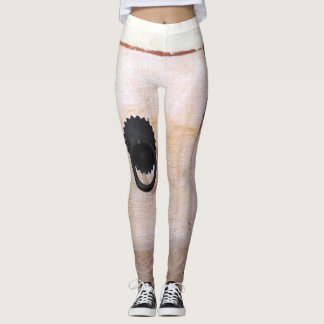 white drawer leggings