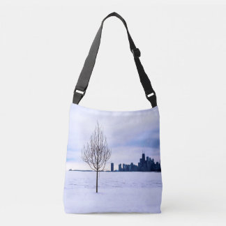 White dream - cross body tote bag
