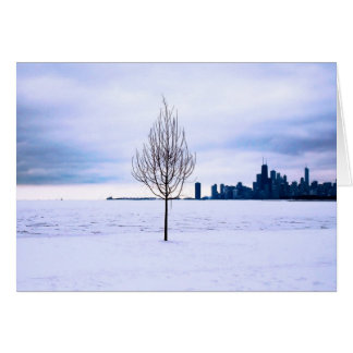 White dream - winter in Chicago, greeting cards