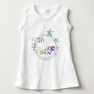 "White dress baby ""P' tit Pimousse"", stars"