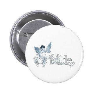 White Dress Fairy Blue - The Bride 6 Cm Round Badge