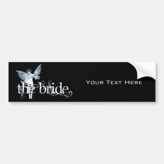White Dress Fairy Blue - The Bride Car Bumper Sticker