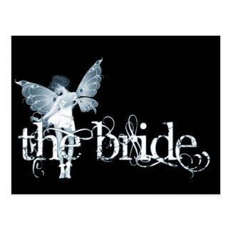 White Dress Fairy Blue - The Bride Postcards
