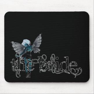 White Dress Fairy Original Negative - The Bride Mouse Pad