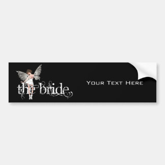 White Dress Fairy Original - The Bride Car Bumper Sticker