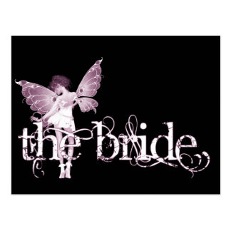 White Dress Fairy Pink - The Bride Post Cards