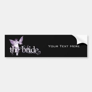 White Dress Fairy Purple - The Bride Car Bumper Sticker