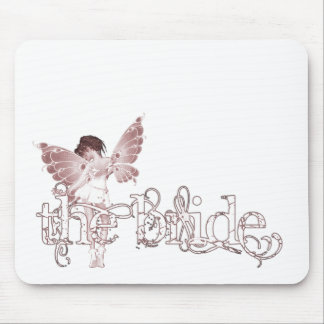 White Dress Fairy Red - The Bride Mouse Pad
